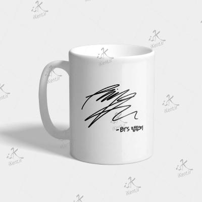 ماگ BTS طرح RM Sign