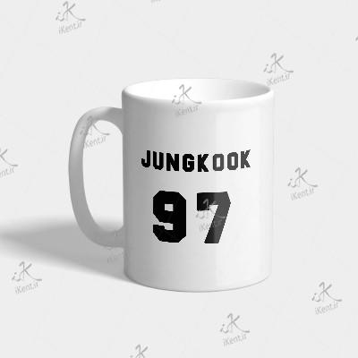 ماگ BTS طرح Jungkook number