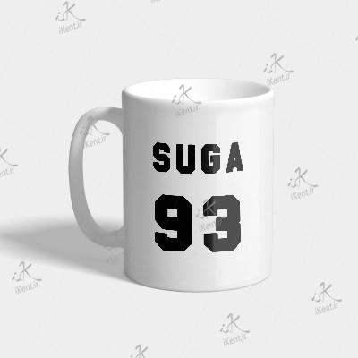 ماگ BTS طرح Suga number