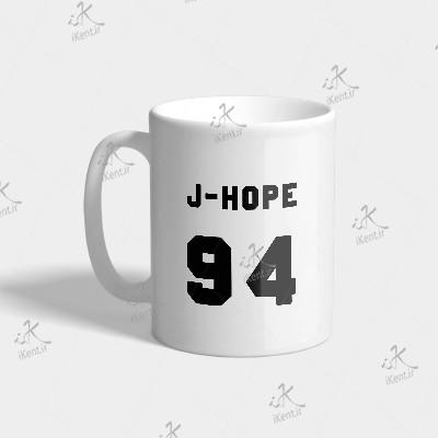 ماگ BTS طرح Jhope number