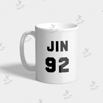 ماگ BTS طرح Jin number