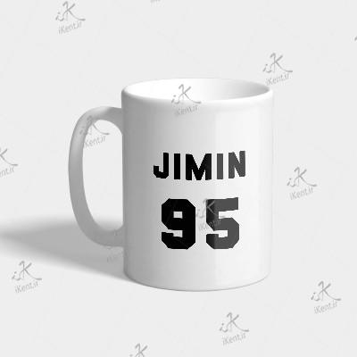 ماگ BTS طرح Jimin number