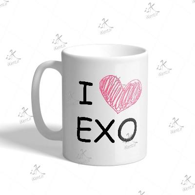 ماگ EXO طرح I Love EXO01