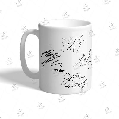 ماگ BTS طرح All Member Sign