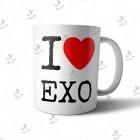 ماگ EXO طرح I Love EXO02