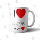 ماگ EXO طرح I Love EXO03