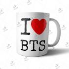 ماگ BTS طرح I Love BTS01