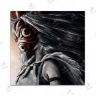 تابلوی امدیاف (20x20 سانتی متر) Princess Mononoke01