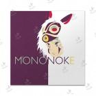 تابلوی امدیاف (20x20 سانتی متر) Princess Mononoke04