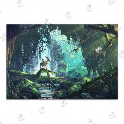 تابلوی امدیاف (20x28 سانتی متر) Princess Mononoke19