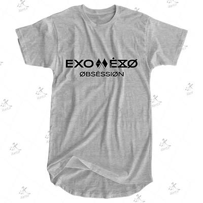 تیشرت لانگ EXO مدل OBSESSION.01