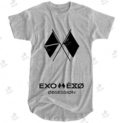 تیشرت لانگ EXO مدل OBSESSION.03