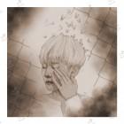 تابلوی امدیاف (20x20 سانتی متر) EXO طرح Baekhyun Butterfly OLD