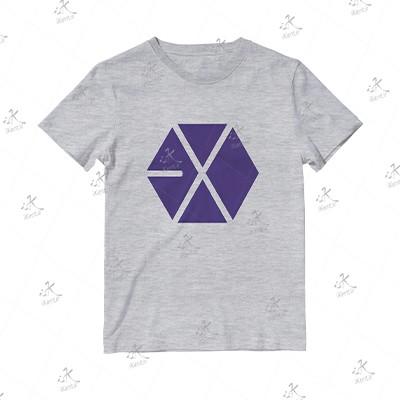 تیشرت ملانژ 01 EXO مدل Violet